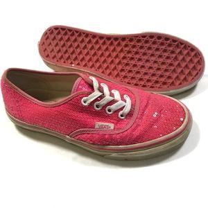 Vans Womans Pink Sequin Sz 6